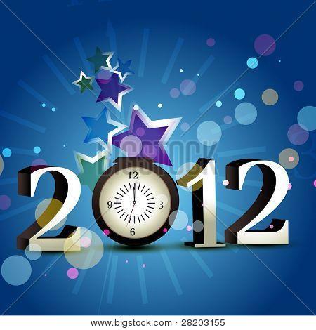 happy new year 2012 vector design