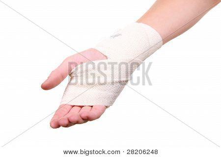 Injured Hand With Bandage