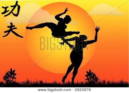 Kung Fu Illustration - Vector
