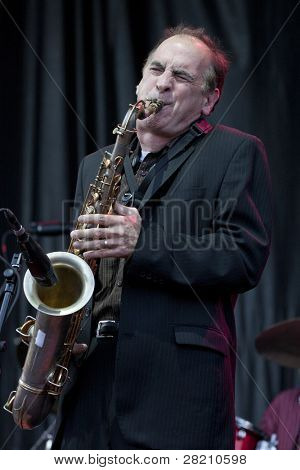 CLARK, NJ - SEPT 18: Saxophone player for Southside Johnny & The Asbury Jukes, Eddie Manion, better known as