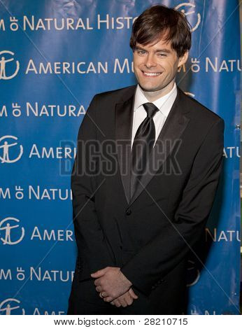 NEW YORK - NOV 10: Saturday Night Live cast member Bill Hader attends the American Museum of Natural History's  2011 Gala on November 10, 2011 in New York City, NY.