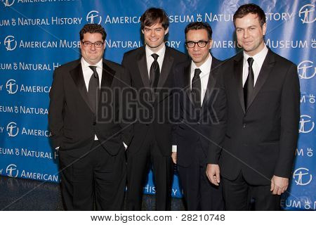 NEW YORK - NOV 10: Bobby Moynihan, Bill Hader, Fred Armisen, and Taran Killam attend the American Museum of Natural History's  2011 Gala on November 10, 2011 in New York City, NY.