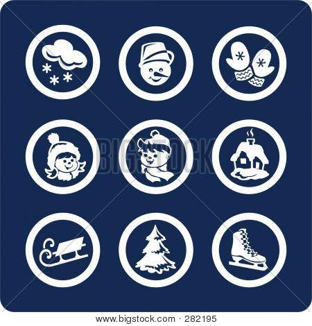 Seasons: Winter Icons (set 3, Part 1)