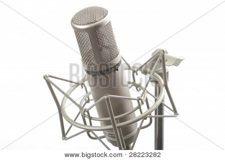Studio Microphone On Stand
