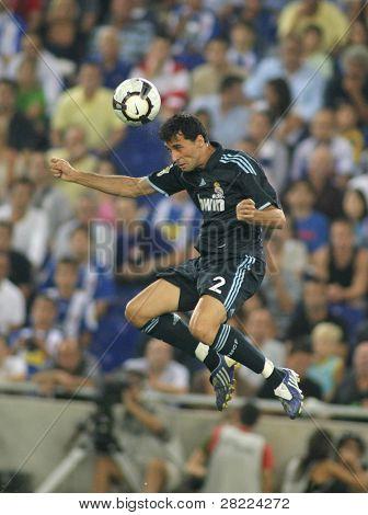 BARCELONA - SEPT. 12: Alvaro Arbeloa of Real Madrid in action during a Spanish League match against RCD Espanyol at the Estadi Cornella-El Prat on September 12, 2009 in Barcelona, Spain