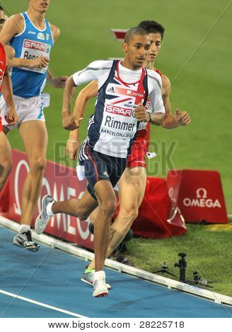 BARCELONA, SPAIN - JULY 29: Michael Rimmer of Great Britain during the Men 800m event during the 20th European Athletics Championships at the Olympic Stadium on July 28, 2010 in Barcelona, Spain