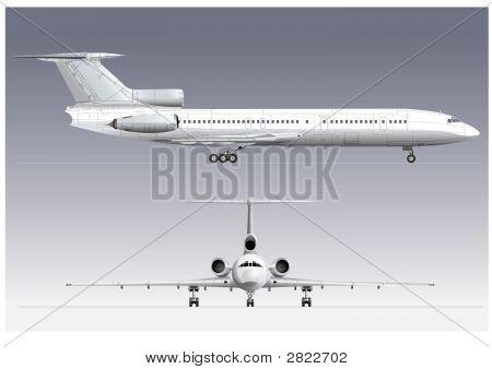 Hi-Detail Passenger Jet Tu-154