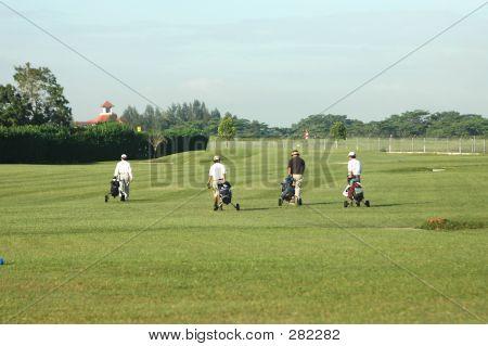 4 Jogadores de golfe