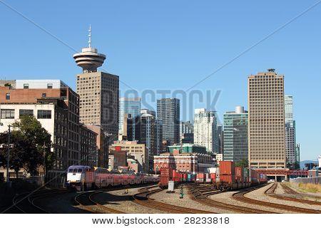 Patio de ferrocarril puerto Vancouver