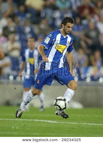 BARCELONA, SPAIN - SEPTEMBER 24: Argentinian player Nico Pareja in action during a match against Malaga CF at the Estadi Cornella-El Prat on September 24, 2009 in Barcelona, Spain.