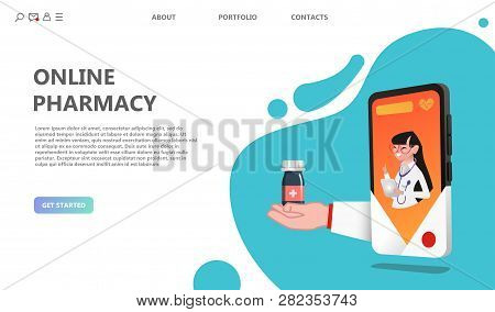 Online Drugstore Healthcare Pharmacy Concept