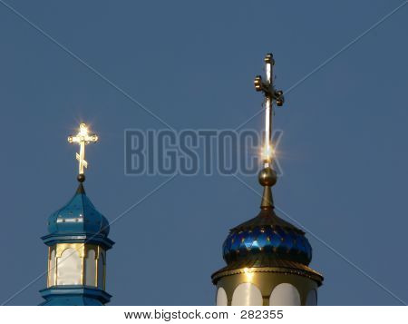 Two Golden Crosses