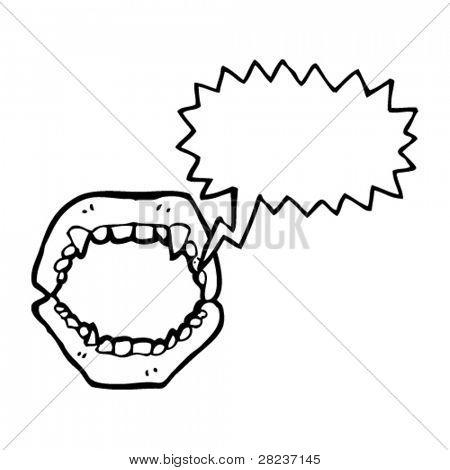 vampire fangs false teeth cartoon