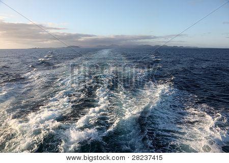 Backwash Of A Fast Ferryboat