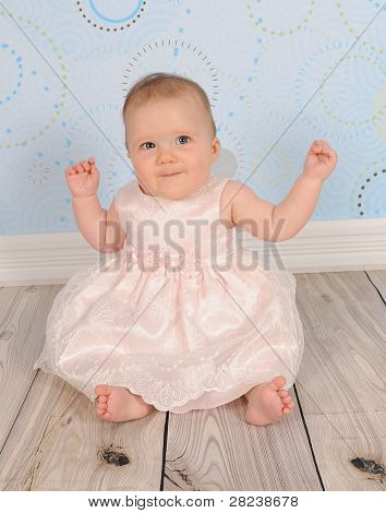 Beautiful Baby Girl Smiling For Camera