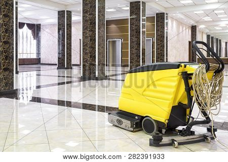 Cleaning Machine In The Empty