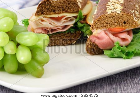 Honey Wheat And Oats Bread Sandwich