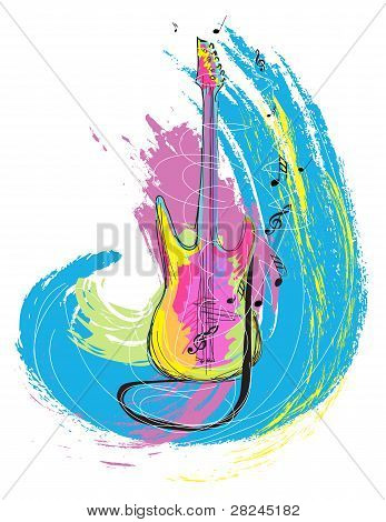colorful electric guitar