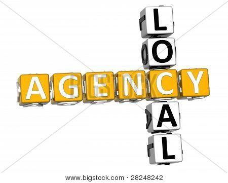 3D Local Agency Crossword