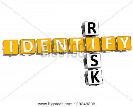 3D Identify Risk Crossword