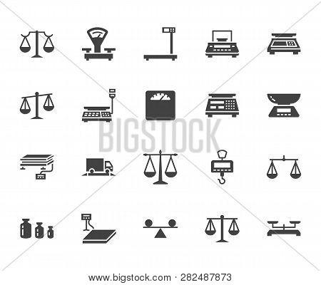 Balance Flat Glyph Icons Set
