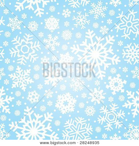 seamless snowflakes pattern (vector)