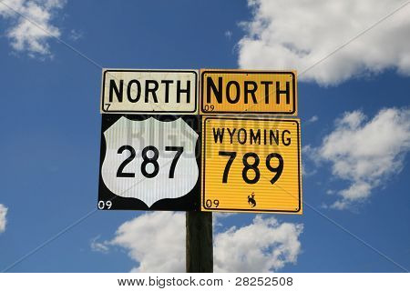 Wyoming Road Signs