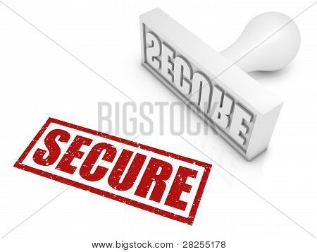Secure Rubber Stamp