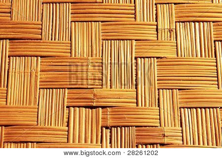 This woven bamboo for the arts.