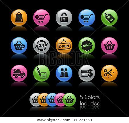 Web shop Icons / The file Includes 5 color versions in different layers.