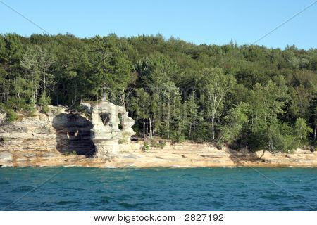Rock Formation At Pictured Rocks