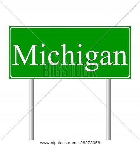 Michigangreen road sign