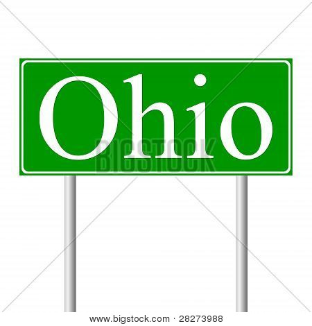 Ohio green road sign