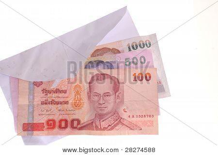Thai Banknotes In An Envelope