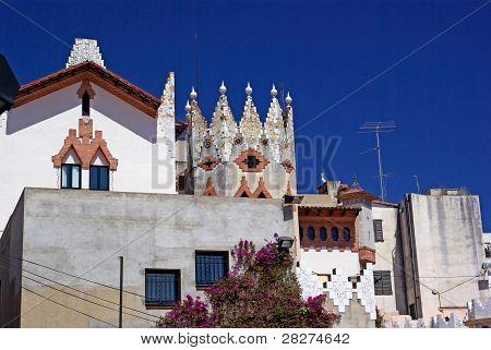 Church With Beautiful Architecture And Ornament. Lloret De Mar, Costa Brava Spain.
