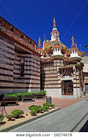 Parish Church Of Sant Roma With Beautiful Architecture And Ornament. Lloret De Mar, Costa Brava, Spa