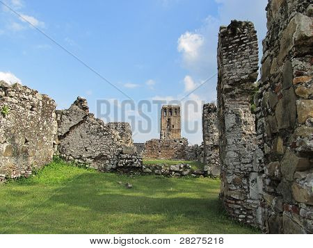 Panama La Vieja, old Spanish city destroyed by pirates