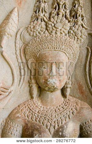 Apsara goddess face