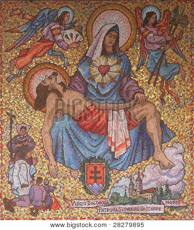 Icon of Madonna. Gift from Slovakia to Basilica of the Annunciation