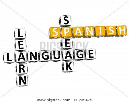 3D Spanish Language Crossword