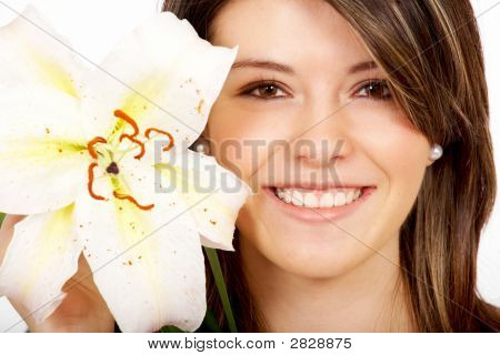 Healthy Girl Smiling Portrait