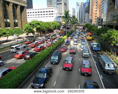 Hong Kong ist. Taxi