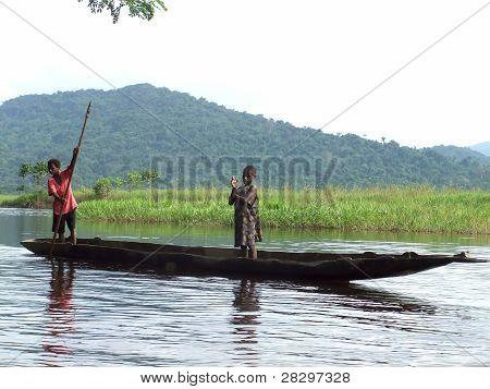 Boat On Sepik River