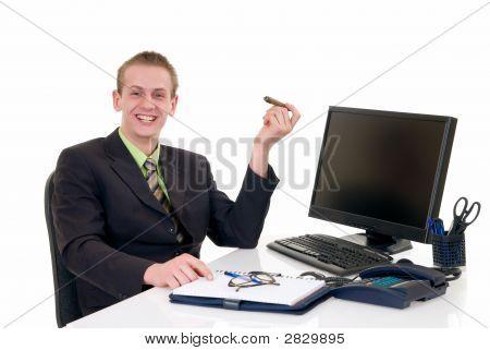 Successful Businessman Office