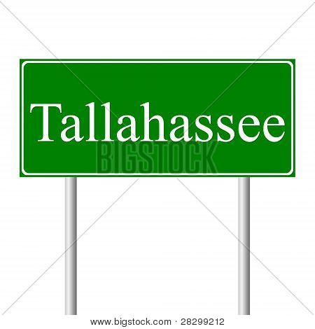 Tallahassee green road sign