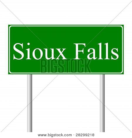 Sioux Falls green road sign