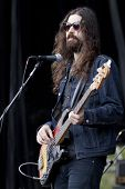 CLARK, NJ - SEPT 17: Bass player for Nicole Atkins & The Black Sea, Jeremy Kay, performs at the Unio