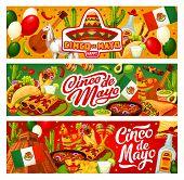 Cinco De Mayo Happy Holiday In Mexico And Traditional Fiesta Celebration. Vector Cinco De Mayo Party poster