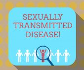 Word Writing Text Sexually Transmitted Disease. Business Concept For Diseases Spread By Sexual Inter poster
