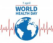 World Health Day Concept. Wellness, Medical Prevention And Profession Medicare Day. Global Medicine  poster